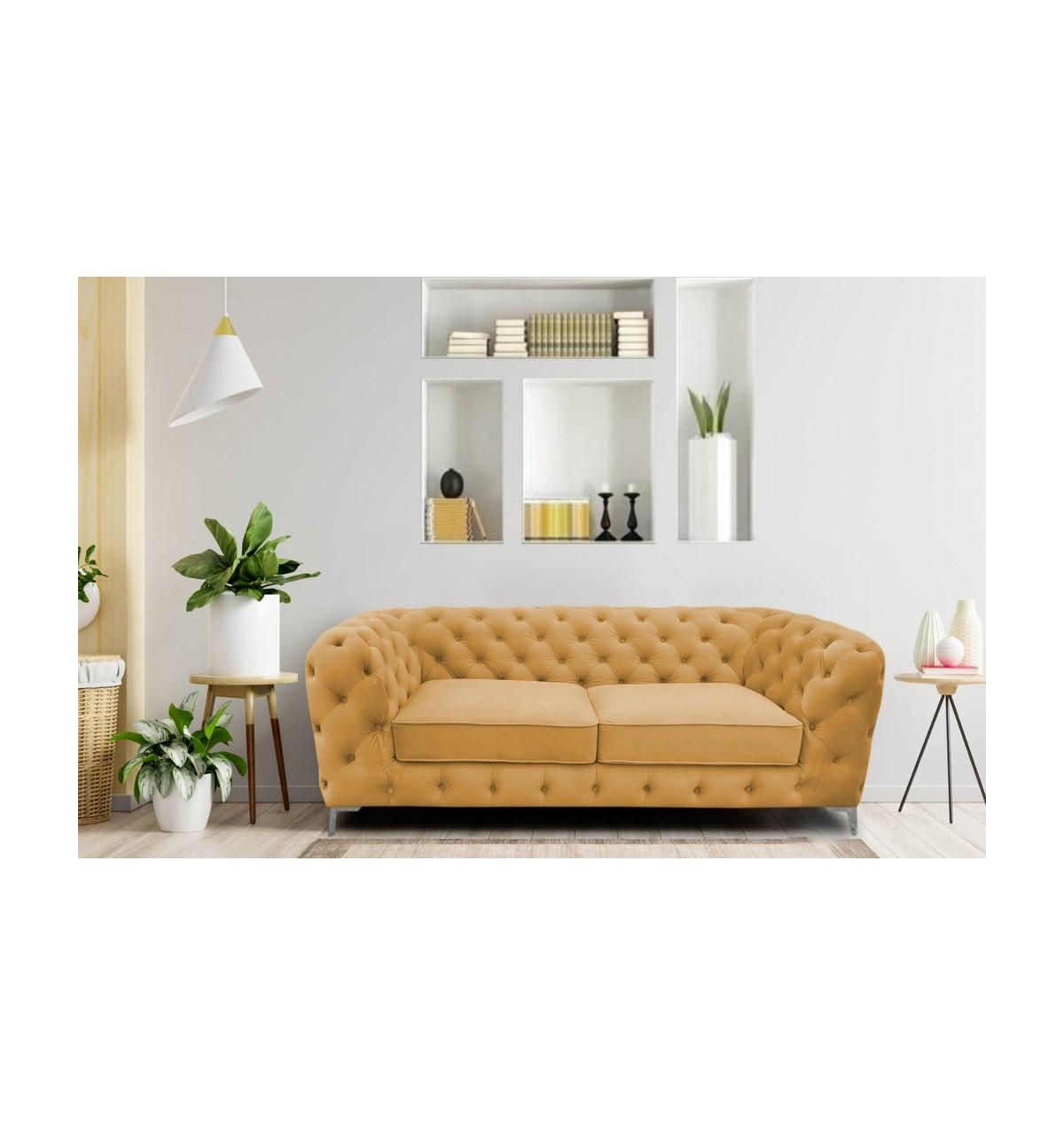 Żółta designerska kanapa