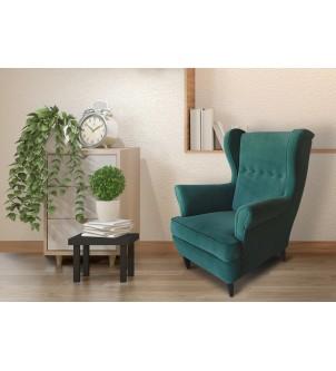 Designerski zielony fotel