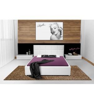 Designerskie białe łóżko...